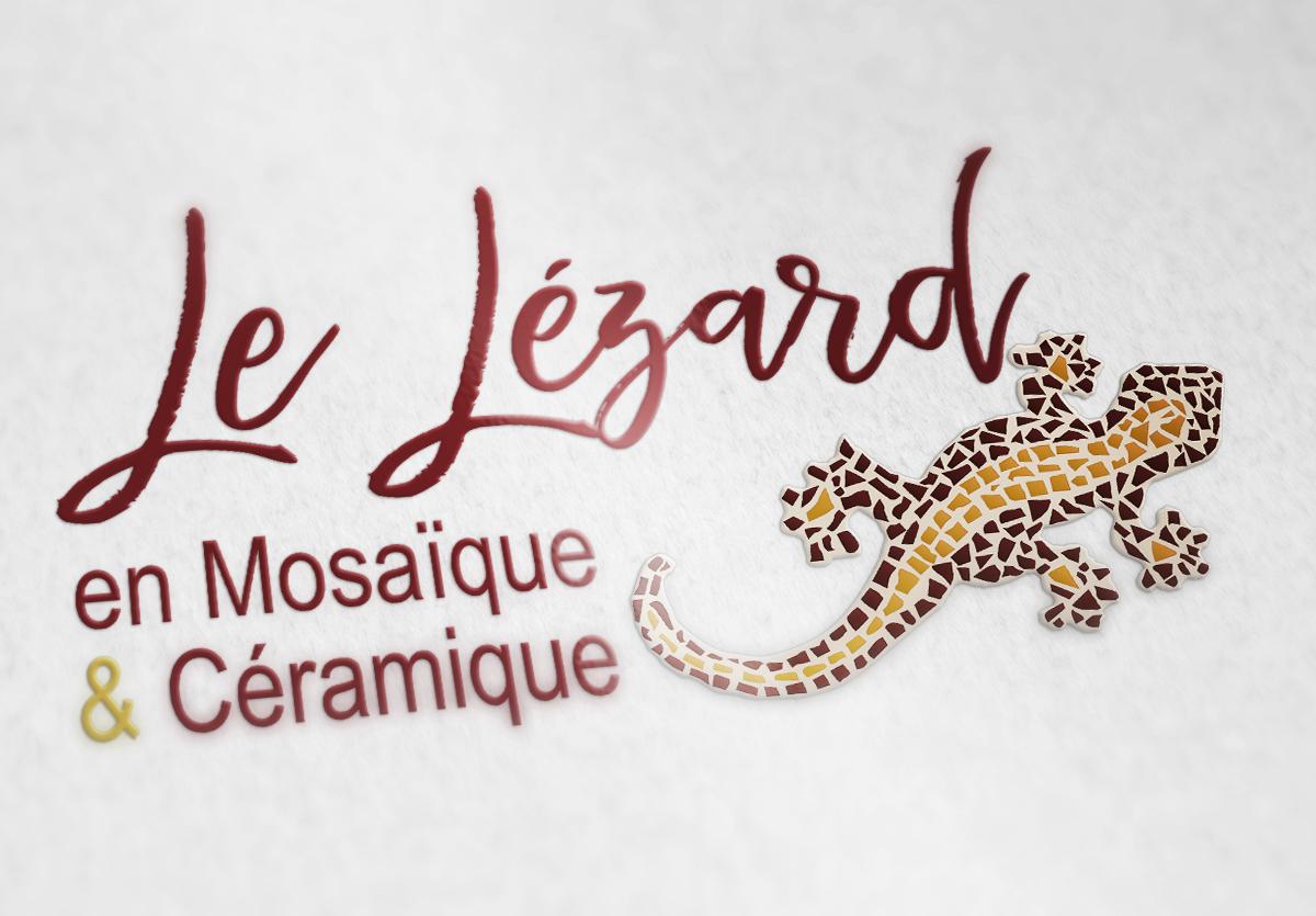 .Le Lézard en Mosaïque et Céramique