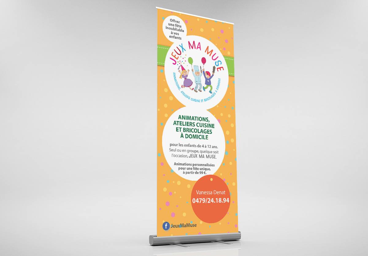 .Roll-up 85x200cm Jeux Ma Muse