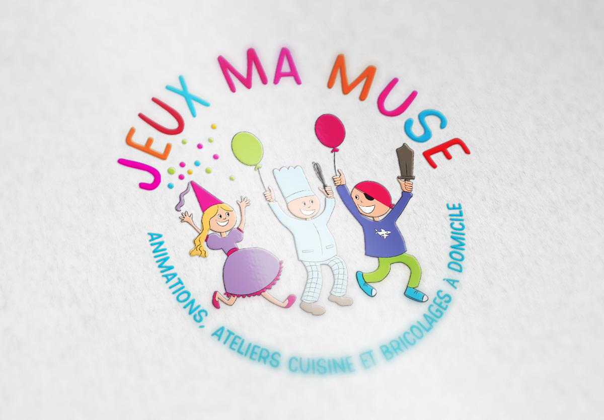 .Vectorisation du logo Jeux Ma Muse